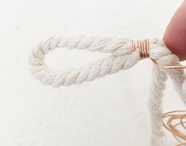 Tying Rope With Copper Wire