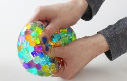 Glass Pebble Stress Ball