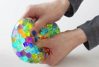 Glass Pebble Stress Ball