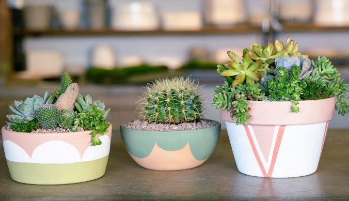 Beautiful DIY Painted Pots