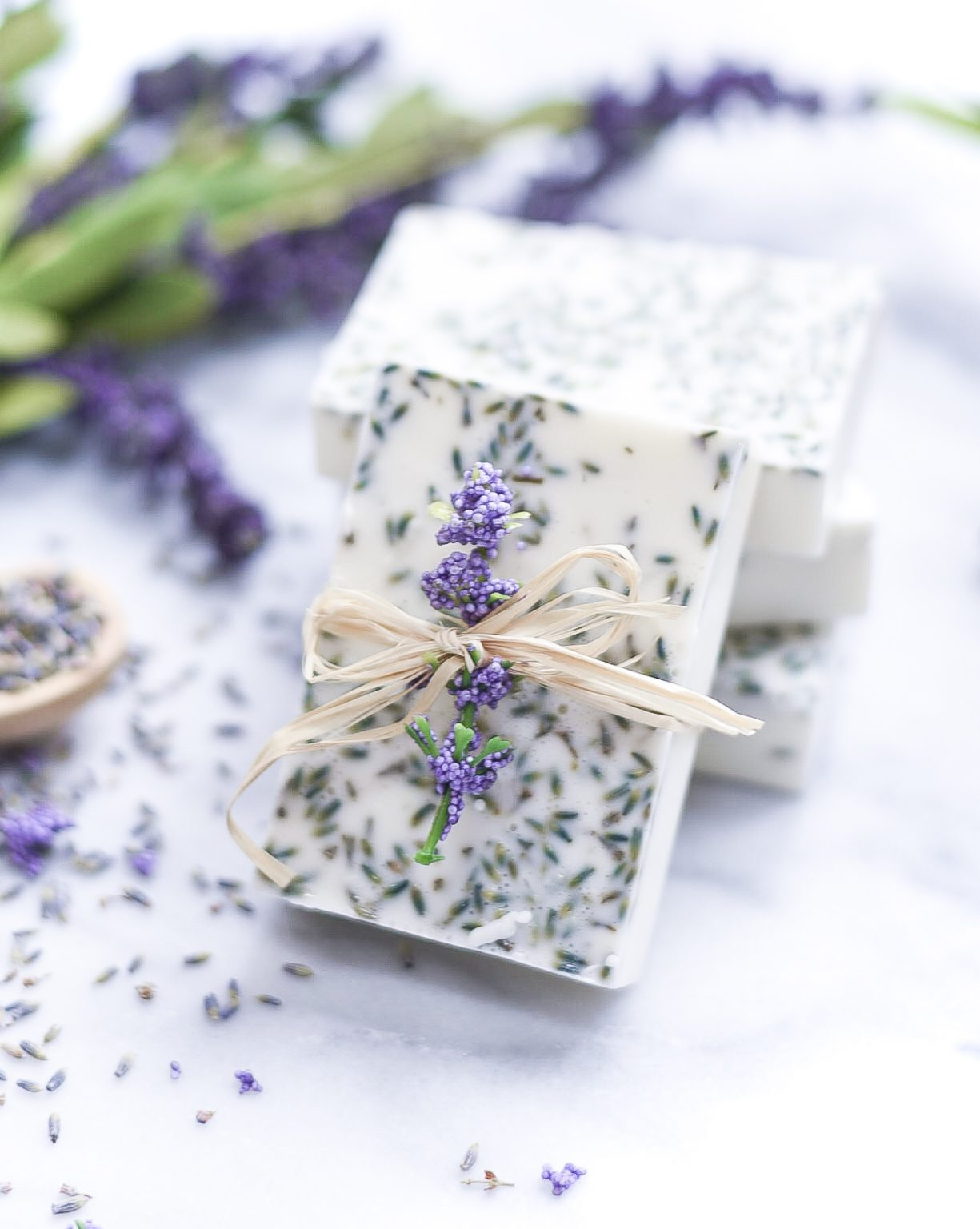 DIY Fancy Lavender Soap