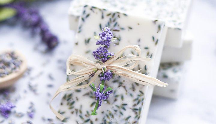 DIY Fancy Lavender Soap