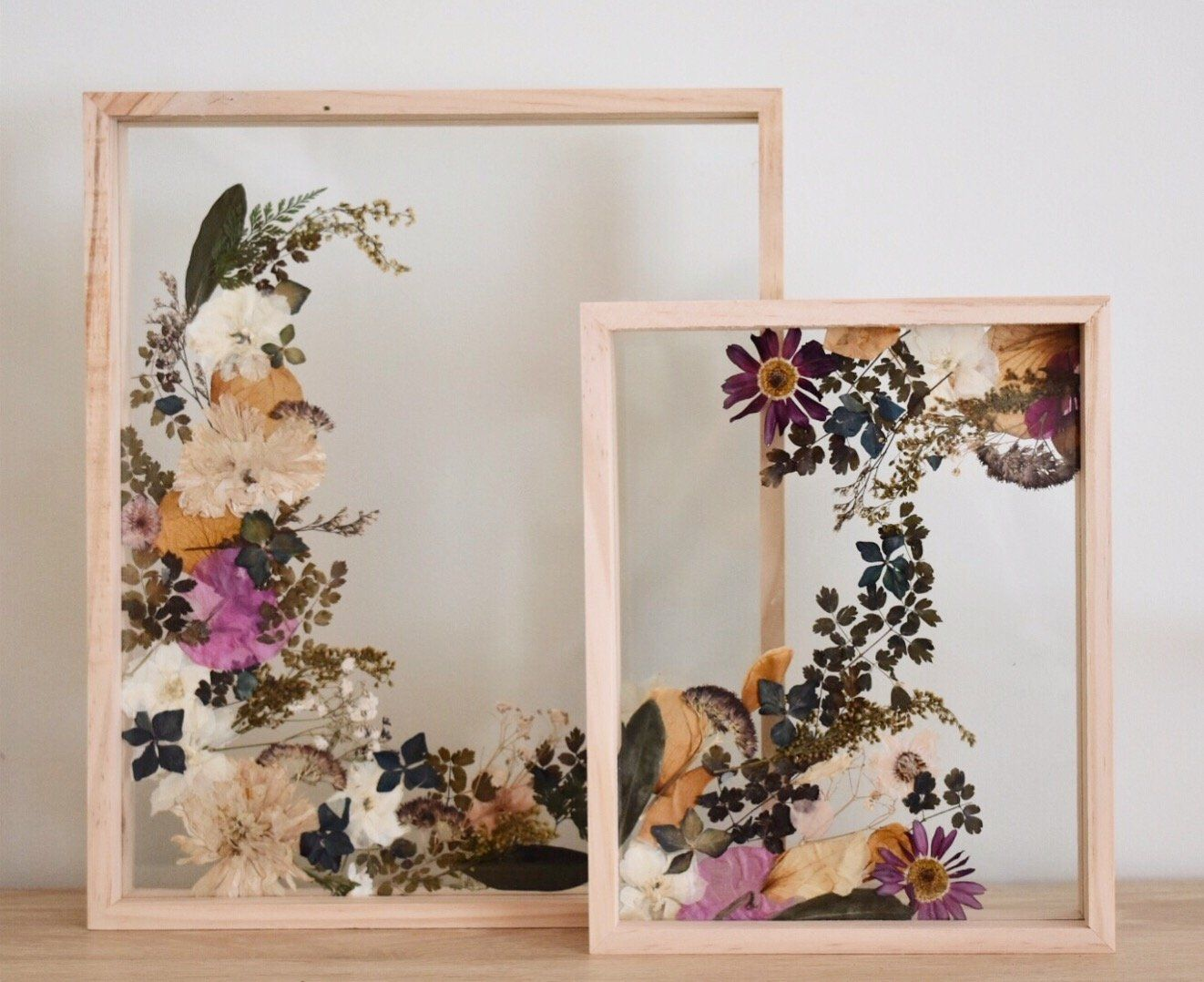 Pressed Flowers In A Frame