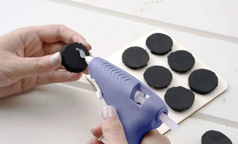 Create Stamps Using Hot Glue Gun & Foam