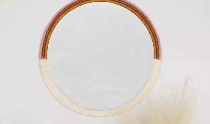 Chic Circle Glass Mirror