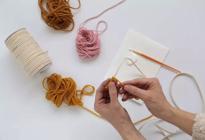Wrap Rope With Yarn